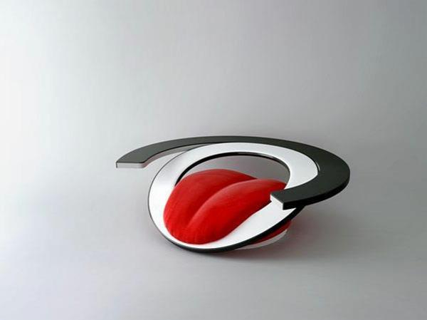 fauteuil-design-rouge-moderne-langue