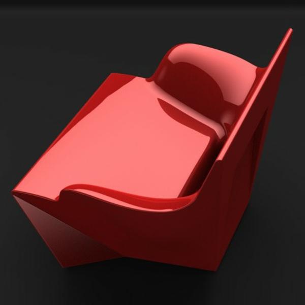 fauteuil-design-rouge-moderne-pattinoire