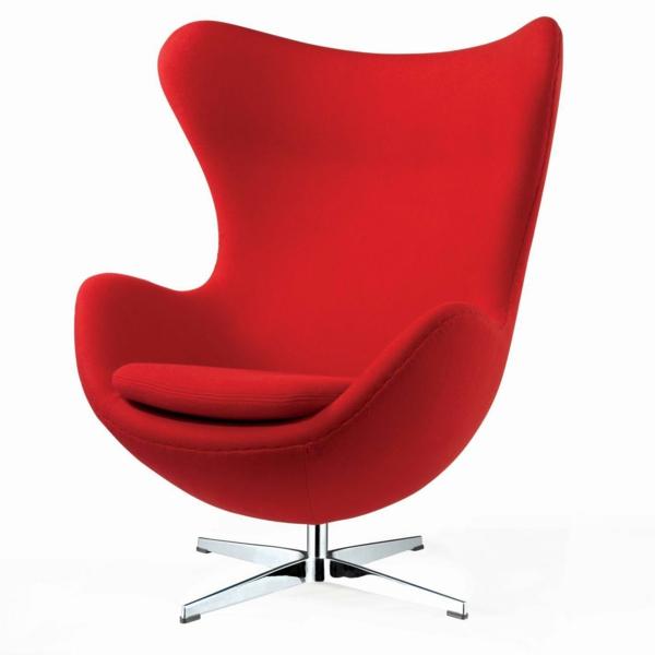 fauteuil-design-rouge-oeuf-moderne-pivotant-pied-acier