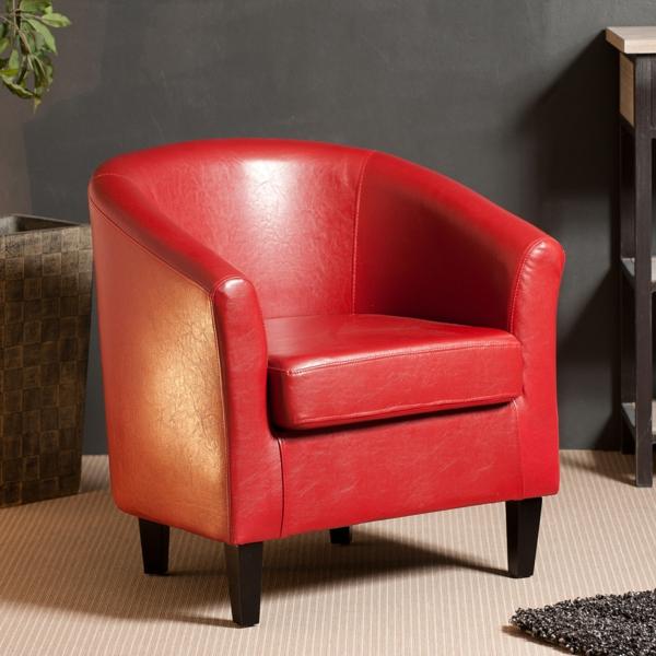 Fauteuil de bureau cuir rouge fauteuil de bureau rouge en for Meuble bureau rouge