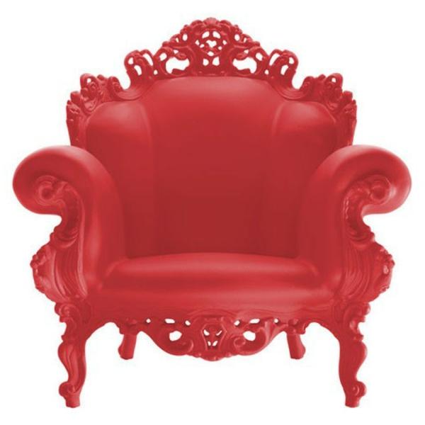 fauteuil-design-rouge-proust-pieds-peints-rouge