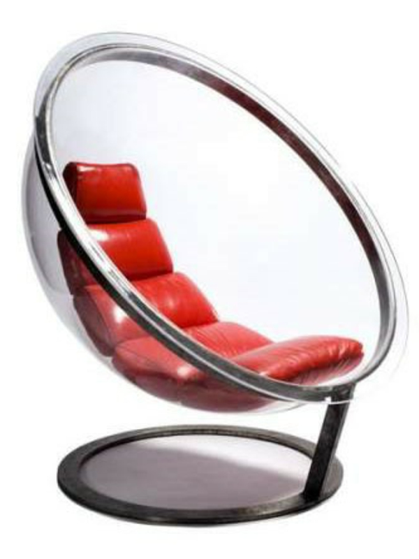 fauteuil-design-rouge-revetement-cuir-siege-transparent