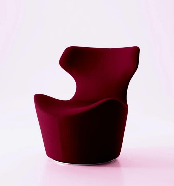 fauteuil-design-rouge-tulipe-revetement-feutre-complet
