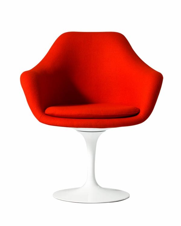 fauteuil-design-rouge-tulipe-revetement-feutre