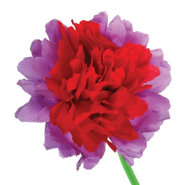 fleur-en-papier-crepon-deux-couleurs-bandes