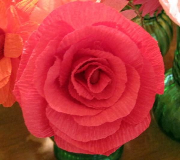 Comment faire une rose en papier facile maison design - Comment faire secher des roses ...