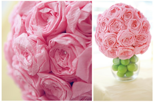 fleur-en-papier-crepon-roses-vases
