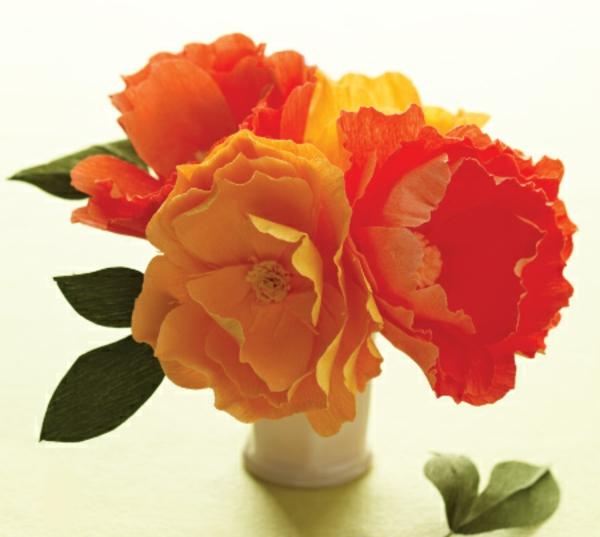 fleur-en-papier-crepon-trois-roses