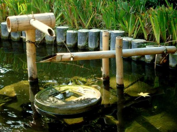 Une fontaine de jardin design quelques id es en photos for Deco jardin avec bambou
