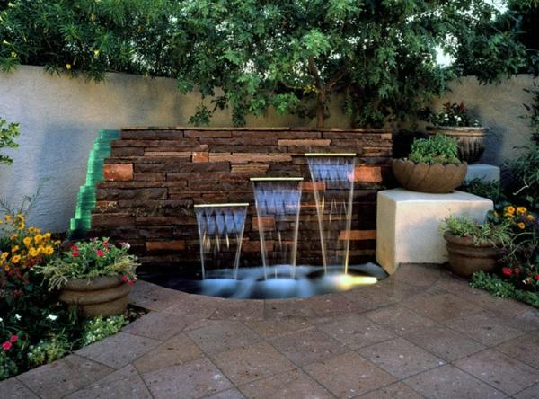 Une fontaine de jardin design - quelques idées en photos fascinantes ...