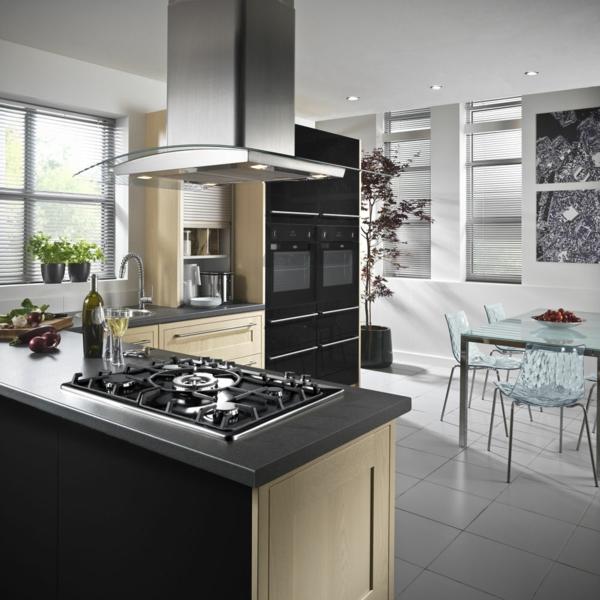 Un four encastrable noir pour votre cuisine jolie et moderne - Element de cuisine pour four encastrable ...