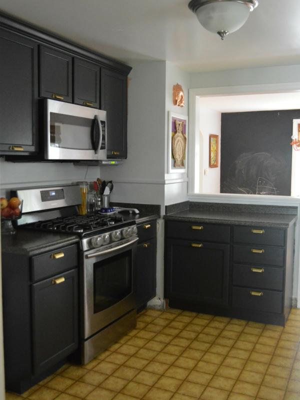 Un four encastrable noir pour votre cuisine jolie et - Element de cuisine pour four encastrable ...