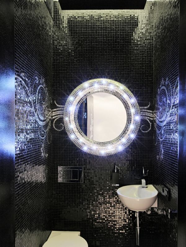 Mod les de miroirs ronds pour la salle de bain for Decoller un miroir du mur