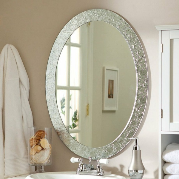 Superior miroir mural grande taille 6 grand miroir rond for Grand miroir rond