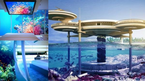 Le design dune chambre dhôtel de luxe sous-marine - incroyable et f...