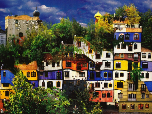 De la pure inspiration artistique hundertwasser architecture for Hundertwasser architektur