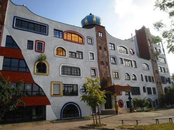 De la pure inspiration artistique hundertwasser Ecole architecture
