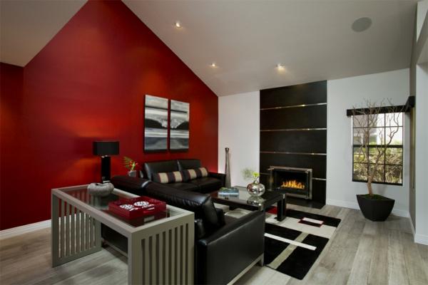Une id e peinture de chambre adulte pour l 39 ambiance magnifique de vos int rieurs for Chambre mur rouge et noir