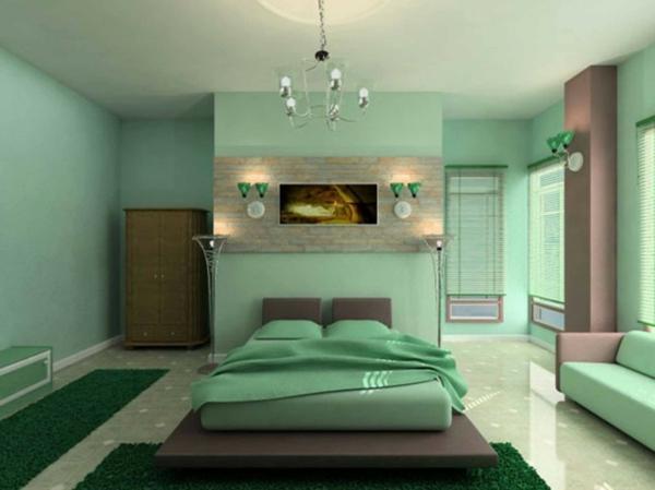 idée-peinture-de-chambre-adulte-en-vert-douce