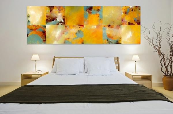 idée-peinture-de-chambre- adulte-peinture-en-jaune