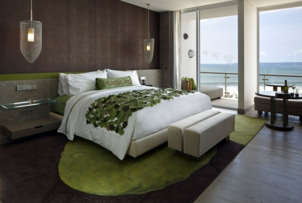 Une id e peinture de chambre adulte pour l 39 ambiance for Chambre a coucher vert et marron