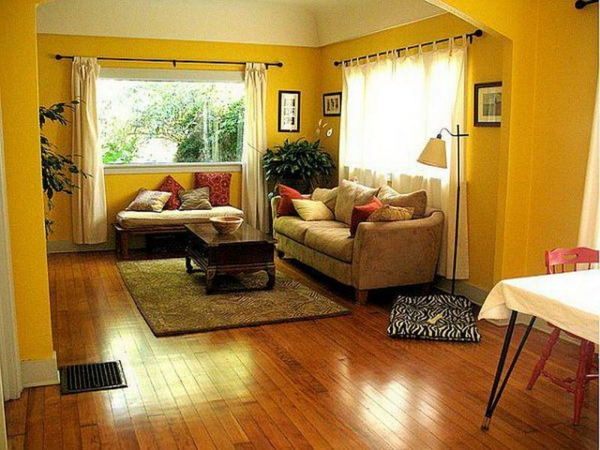 idée-peinture-de-chambre-adulte-en-jaune