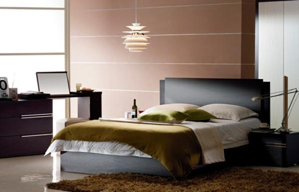 Une id e peinture de chambre adulte pour l 39 ambiance magnifique de vos int rieurs - Deco kamer bruin ...