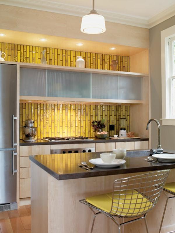 jaune-carrelage-petite-coin-cuisinier