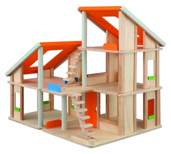 jouet-maison-en-bois-nature-toit-rouge