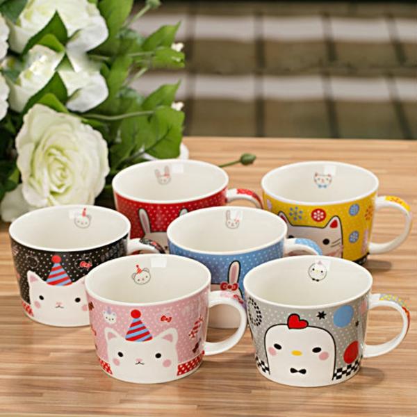le-tasses-à-café-design-des-tasses-de-dessins-mignons