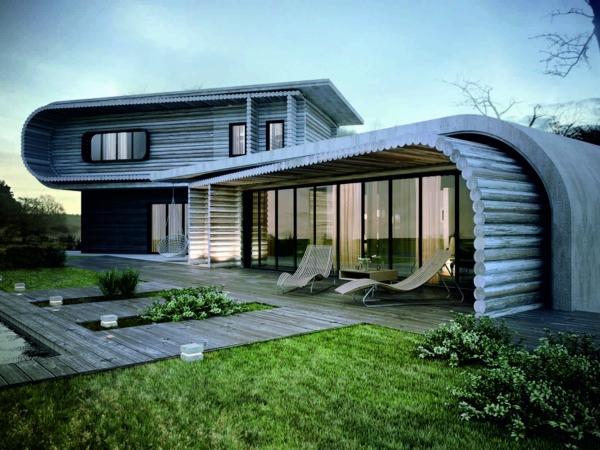 la-maison-en-rondins-en-bois-est-moderne