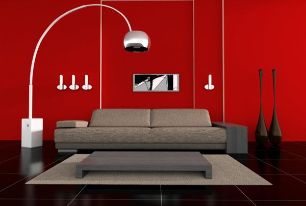 lampadaire-arc-dans-une-chambre-rouge