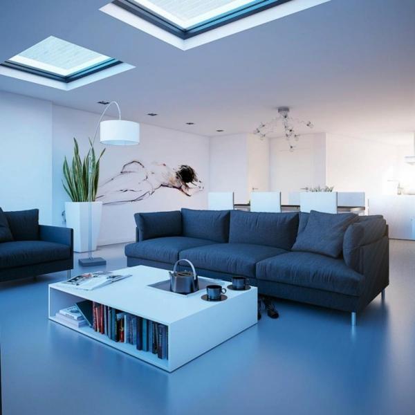 lampadaire-arc-et-une-salle-de-séjour
