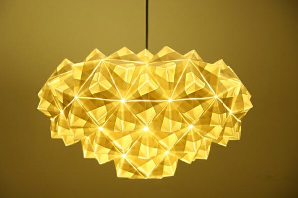 lampe-origami-un-lustre-jaune