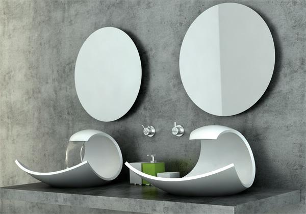 Un lavabo de salle de bains forme inhabituelle donnera l for Lavabo design salle de bain