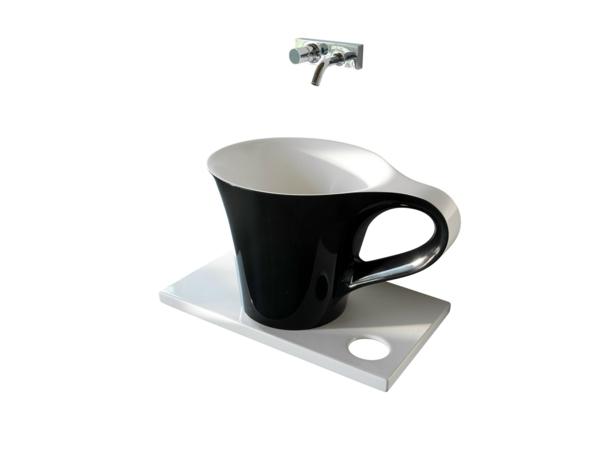 Un lavabo noir pour la salle de bains l gante for Lavabo design salle de bain