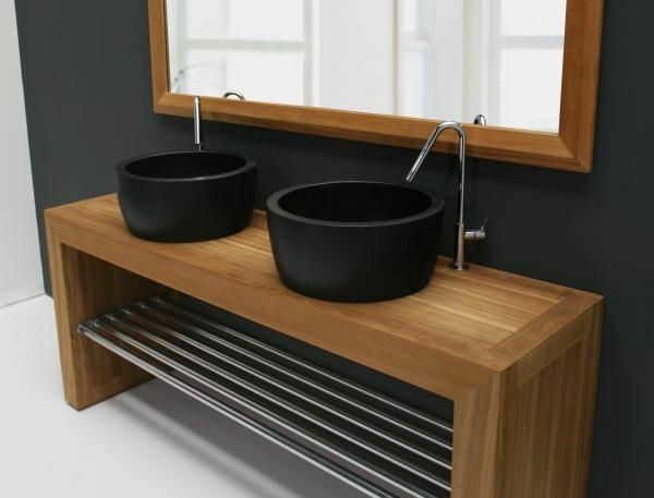 un lavabo noir pour la salle de bains l gante. Black Bedroom Furniture Sets. Home Design Ideas