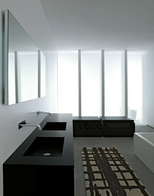 lavabo-noir-double-salle-de-bains-miinimaliste