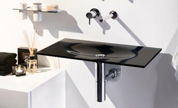 Lavabo en verre pour salle de bain for Lavabo en verre salle de bain