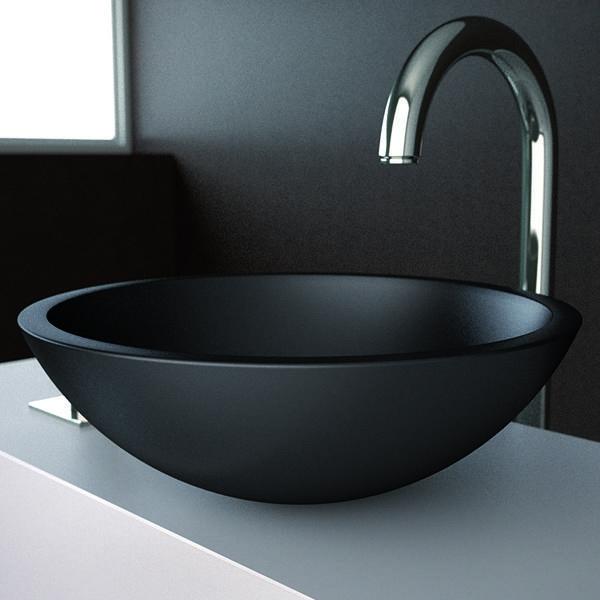 un lavabo noir pour la salle de bains l gante. Black Bedroom Furniture Sets. Home Design Ideas