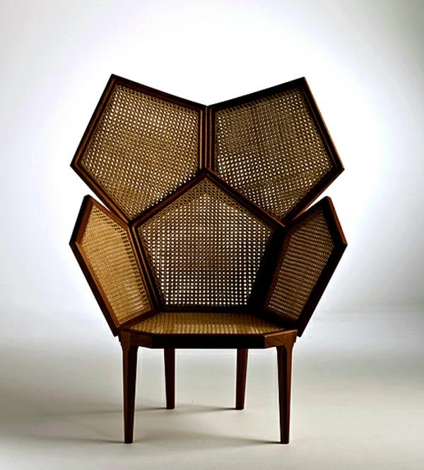 fauteuil-osier-originel-de-plusieurs-éléments-liés