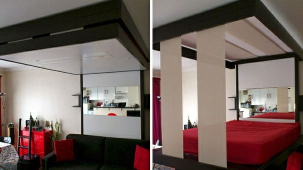 lit-escamotable-plafond-rouge