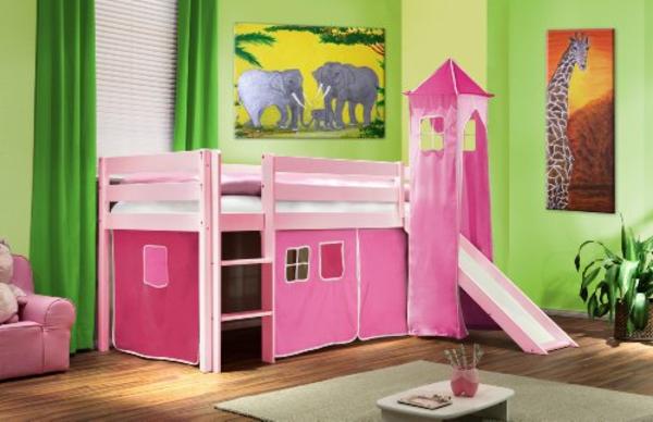 le lit mezzanine toboggan pour le plaisir de vos chers petits. Black Bedroom Furniture Sets. Home Design Ideas