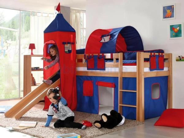 le lit mezzanine toboggan pour le plaisir de vos chers. Black Bedroom Furniture Sets. Home Design Ideas