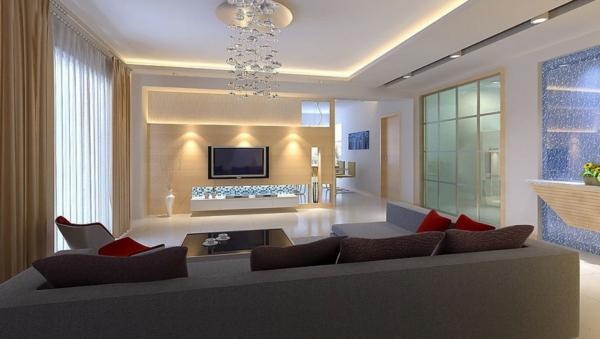 luminaire-suspendu-dans-un-hall-de-séjour