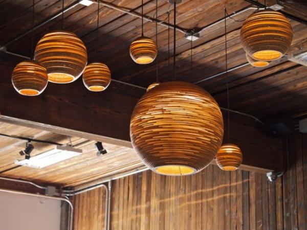 Quelques id es brillantes avec un luminaire suspendu for Luminaire suspendu bois flotte