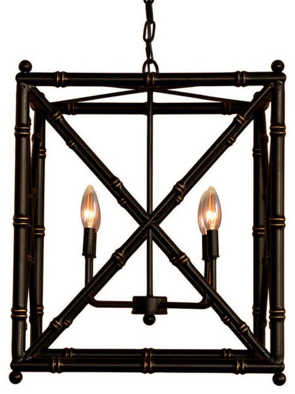 lustre-abat-jour-noir-luxueux-ampoules-cadre