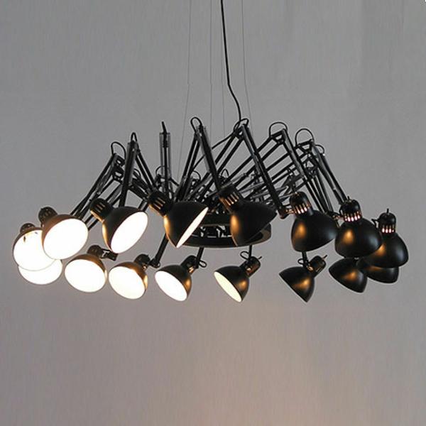lustre-abat-jour-noir-luxueux-lampes