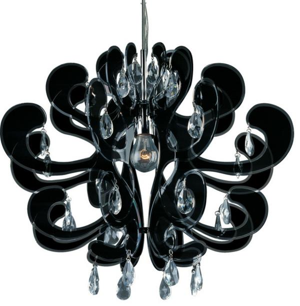 lustre-abat-jour-noir-luxueux-pendants-fleurs