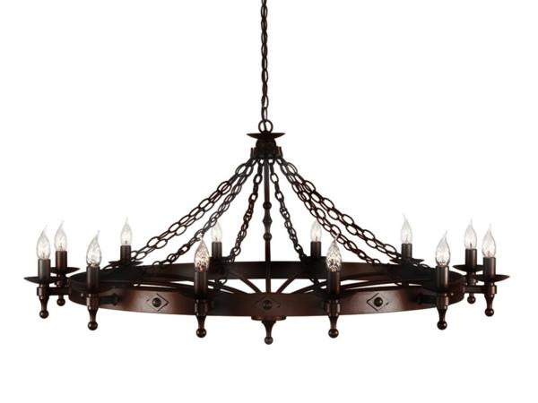 Un lustre rustique pour plus d 39 authenticit et de chaleur dans la maison - Lustre forme ampoule ...